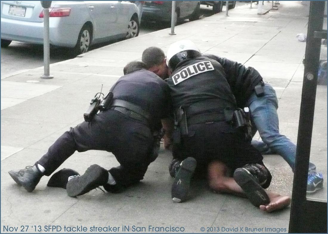 SFPD Tackle Naked Man